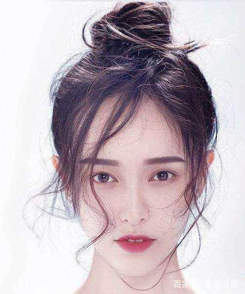 赵丽颖丸子头好看?不好意思,我只get最后一位手绘女子齐刘海古装图片