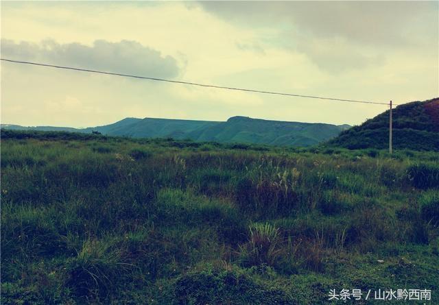 晴隆县三望坪,不需修饰的高山初中草原风光英语课二稿说图片