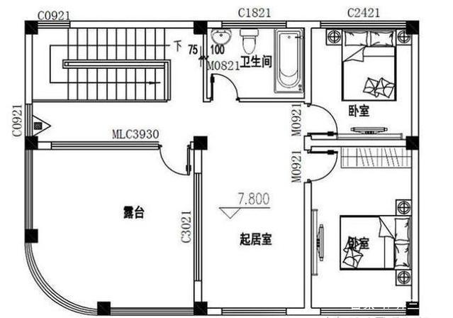 占地三套房屋自建房设计图,精选80到120平方8设计图10米农村图片