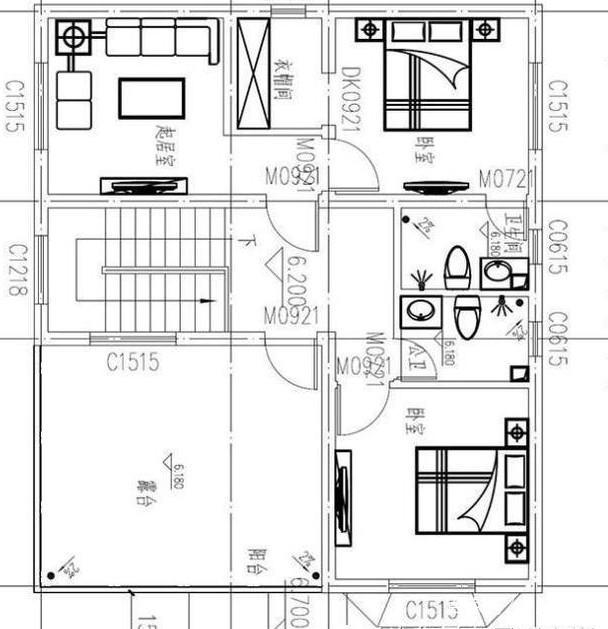 精选三套农村自建筑设计图,占地80到120平方我的世界普通的建房设计图图片