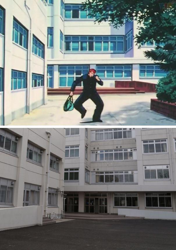高中《灌篮高手》的漫画地,湘北实景很漂亮,里湘高中玉