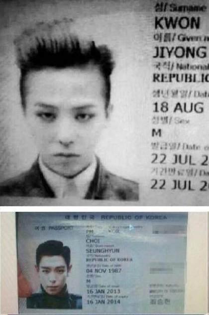 BIGBANG护照曝光!东永裴哪吒头发型太奇葩!衬衣发型师条纹2018图片
