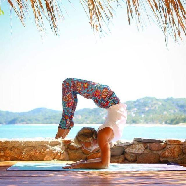 國外瑜伽美圖賞析,還能提高你的拍照構圖技巧圖片