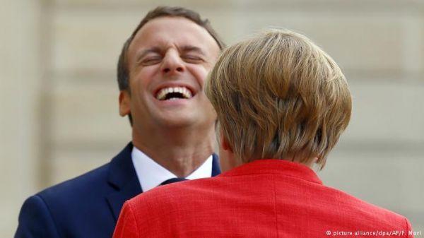 """德媒:馬克龍成歐洲政壇閃亮新星 或是下一個""""默克爾""""?"""