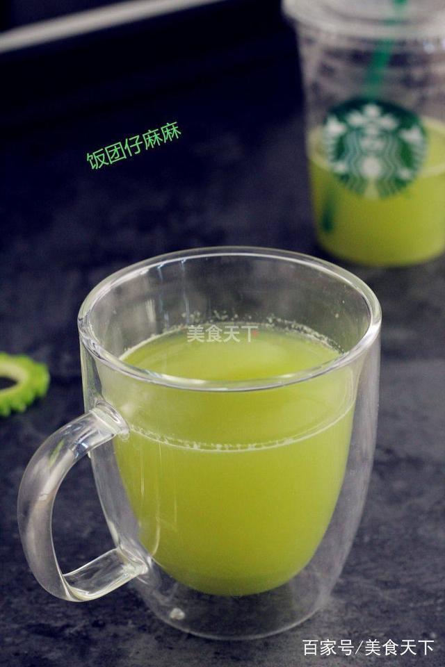 明星们都喜欢喝就是汁?减肥排毒苦瓜喝节食怎样可以减肥图片