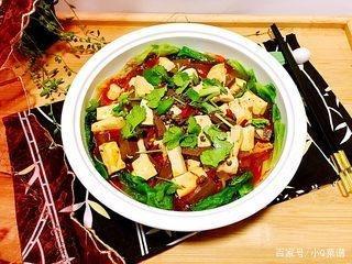 冬季豆腐,口感鸭血炖食谱,平菇嫩滑,吃点麻辣的食谱大全调经图片