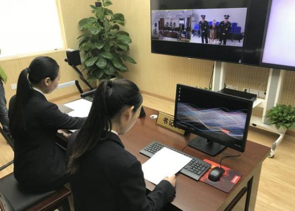 鄭州金水區檢察院音視頻係統遠程出庭,40分鍾公訴5起案件