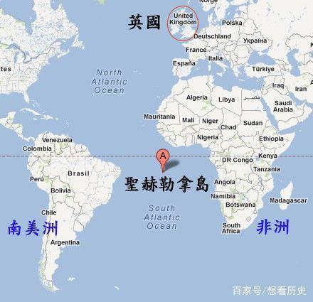 囚禁拿破仑的圣赫勒拿岛在哪?看完地图,只能说