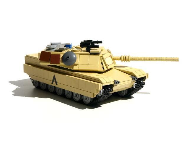 乐高版M1A2主战坦克燃气看怎么图纸出来图片