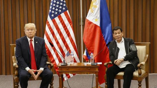 特朗普稱菲律賓亞太戰略位置完美 雙邊關係回正軌
