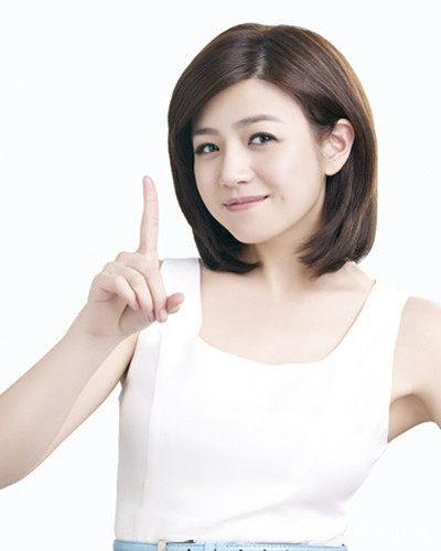 文艺脸齐肩包子清纯女神陈妍希v文艺发型适合发发型图片