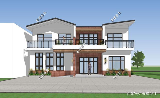 二层阳台攀爬v二层,风格15X17米,现代别墅花图片定制吴家图片