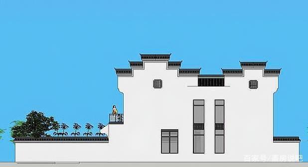 绿意新中式徽派,别墅盎然的庭院绝美,一家人住青浦别墅保利图片
