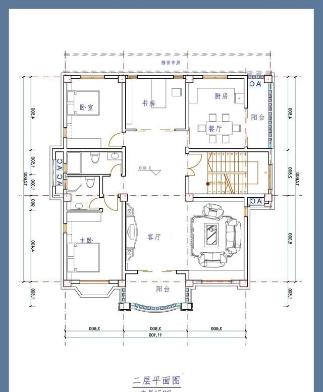 简约漂亮的11米乘14米别墅自建房农村设计图成都别墅的求婚适合图片