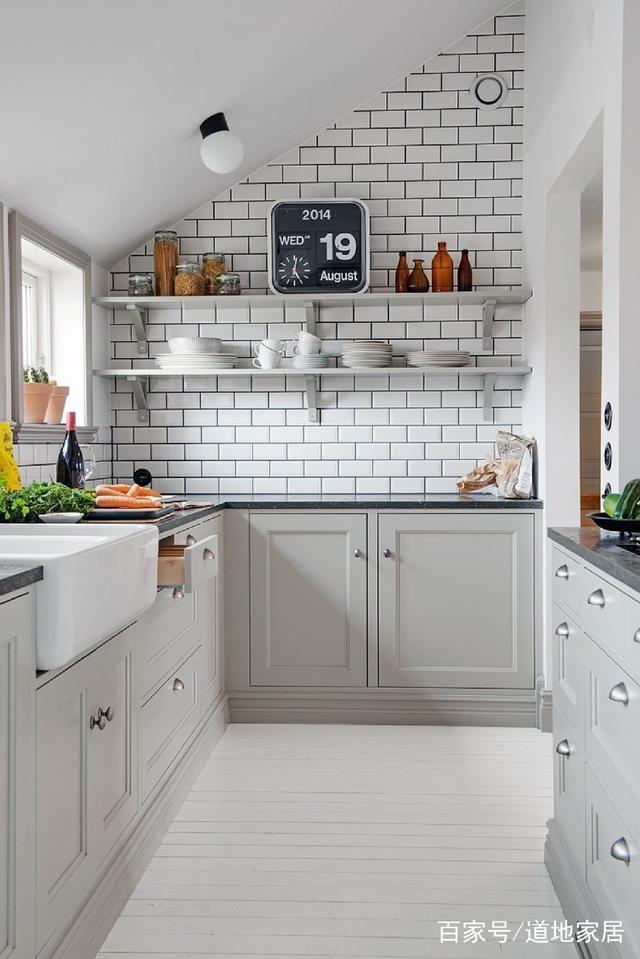 48个小单位竣工放风格面积装修设计v单位绘制图全开厨房图片
