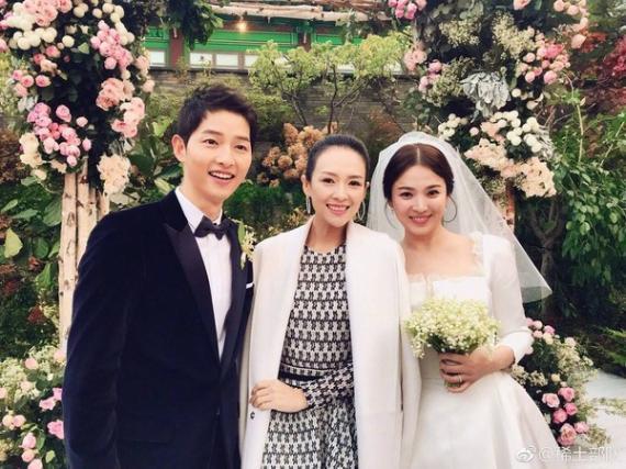 章子怡參加雙宋婚禮穿白衣搶先曬照引爭議