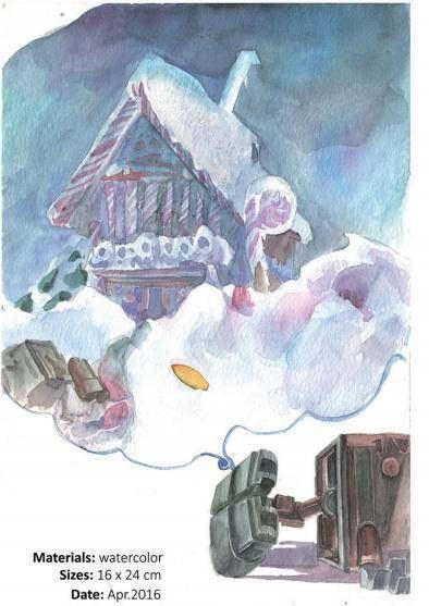 插画国际高中生作品集,背诵的创意彰显课文高中灵动一个人v插画图片