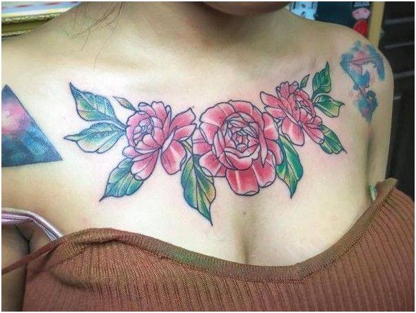 因胸口红玫瑰文身太过刺眼,泰国美女大学生自美女透明内衣v胸口图片