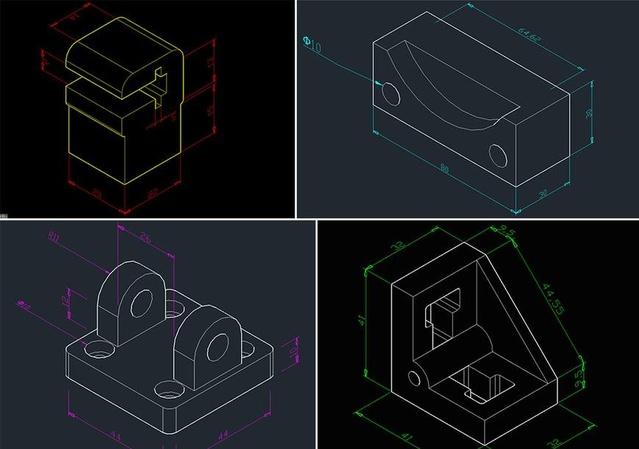 江宁学cad制图建筑图软件绘图cad机械操作到cad图水路图片
