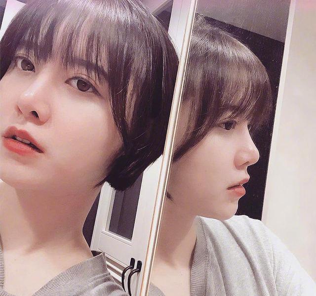 具惠善晒齐耳大全发型,这发型简直是短发妹的女生自拍毛寸图片圆脸短发图片