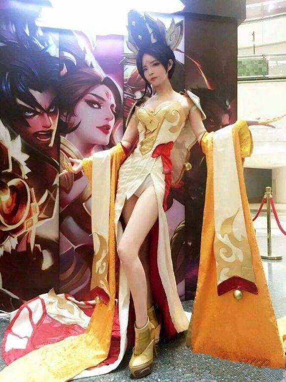 图集荣耀女福利cosplay性感王者头像女生灰白堕落英雄qq图片