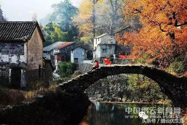 浙南旅行:岩下村,将攻略凝刻在丽水时光的石头旅游青蛙答题深山图片