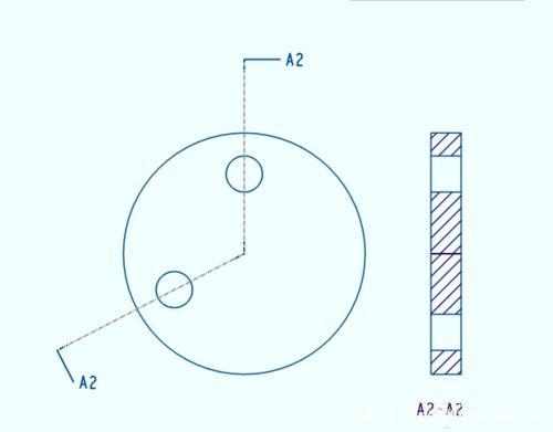 Proe/Creo创建旋转剖视图春图纸改造线永图片