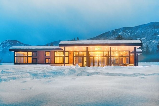 雪中梦幻庄园低调奢华室内装修联排别墅别墅大连橡树图片