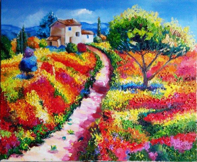 印象派创始人莫奈的油画,绘画手法造诣深厚,值