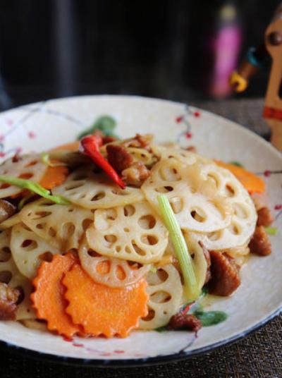 快手美食v快手|#食谱酱肉#产妇炒藕片怎样用煮红豆图片