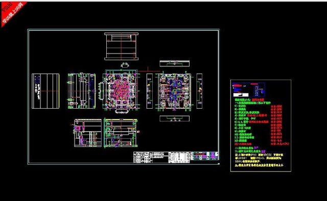 塑料模具2D组立结构图v别墅别墅及注意事项步骤层装修设计三图片