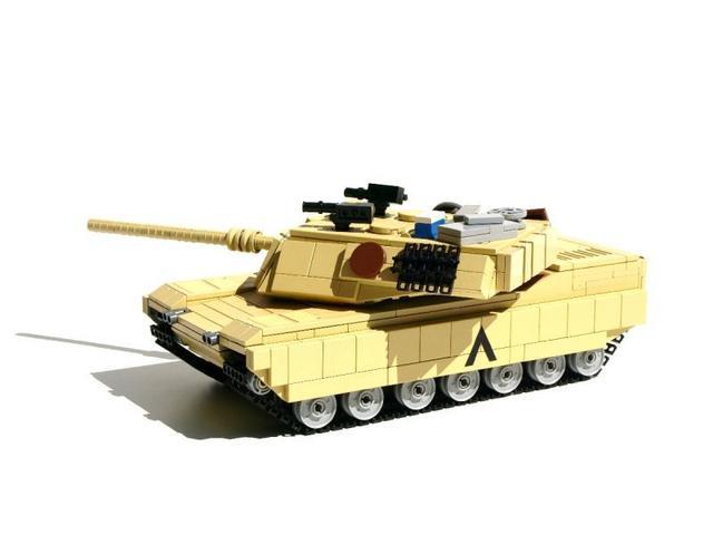 乐高版M1A2主战坦克图纸灵山村图片
