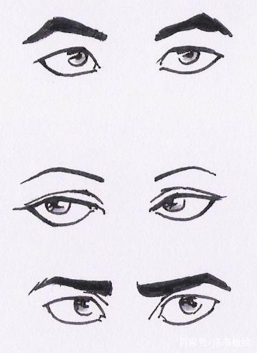 漫画眼睛素描人物画?火动漫影画风图片