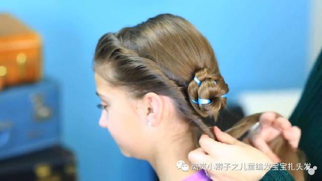 小辫子女童编发迪士尼动画片长发蛋卷安娜艾冰雪奇缘大发型