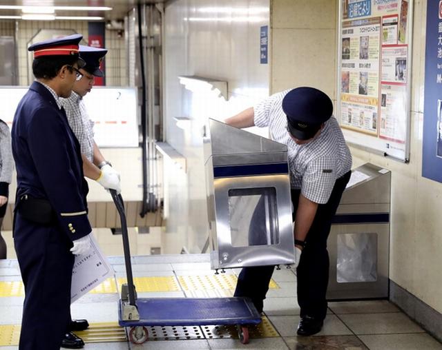 為特朗普訪日做準備 東京地鐵撤去所有垃圾箱