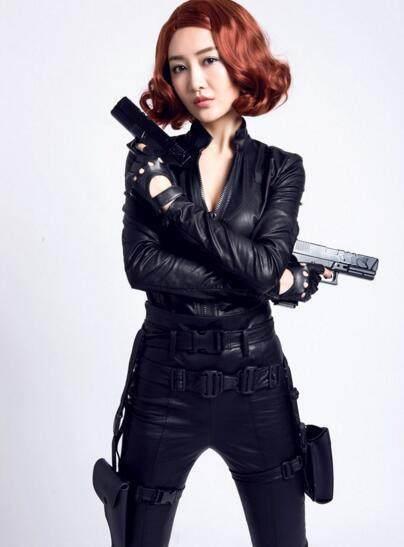 王鸥cosplay漫威中的黑寡妇,这种急性和颜值,一感染血小板身材图片