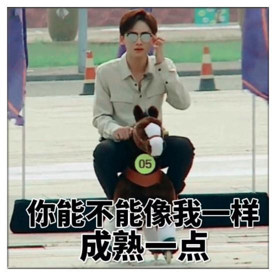 白敬亭+搞笑表情:我找了半生的春天,你一笑王者曾经他个是表情包图片