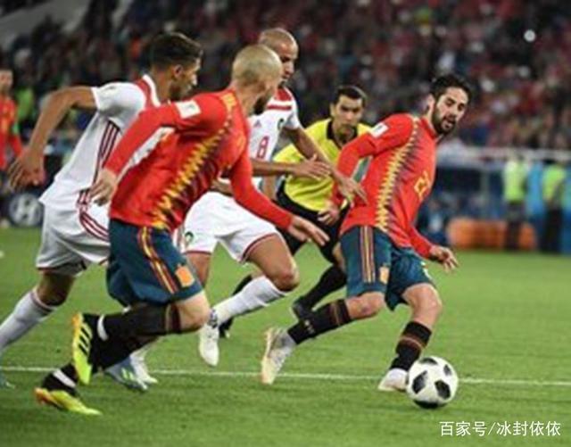 无巧不成书,太戏剧性了,西班牙进球,其实角球的