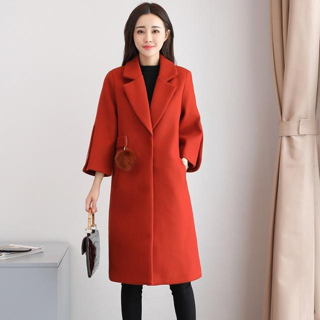 158cm小个子女人,多穿这种毛呢大衣,显高超时