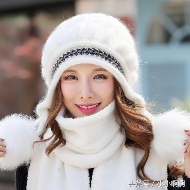 女人的美丽,自己的选择,帽子围巾两件套给你最