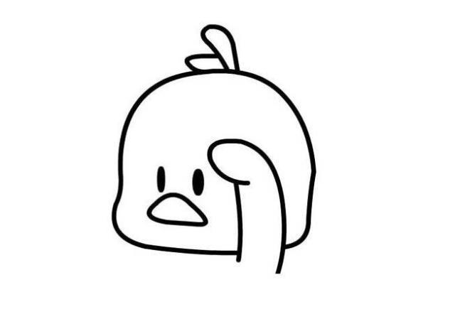 抖音最火网红小黄鸭简笔画,边画边笑,太魔性了