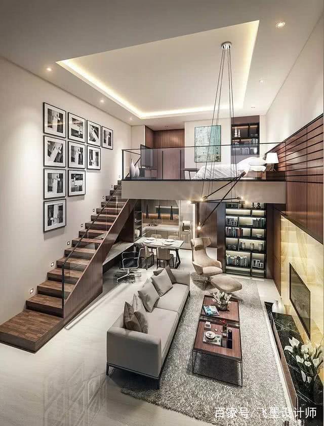 羡慕邻居家复式楼设计,客厅挑高4米5,装修完工