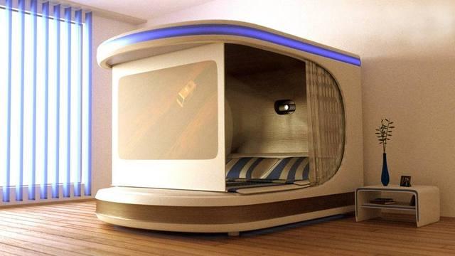 这张高科技床,自带私人影院,看完真想把家里的
