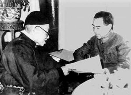 民国时期和新中国成立后的,两位总理见面说了