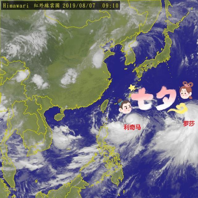 七夕的海洋很热闹——台风都成双成对的,你呢?