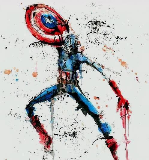 水墨画风版超级英雄,蜘蛛侠变成牙签人,鹰叔绿