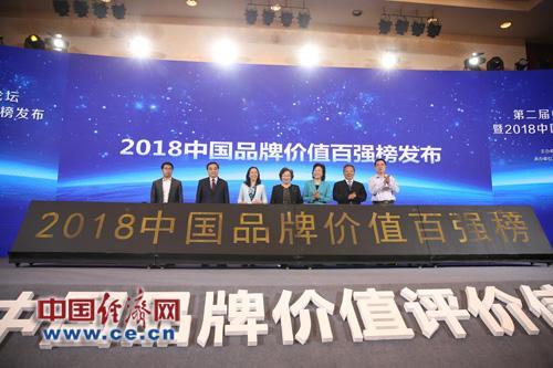 2018中國品牌價值百強榜發佈 總品牌價值超5萬億元