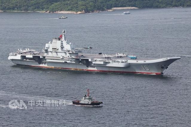 輕車熟路!遼寧艦航母編隊20日進入台灣海峽