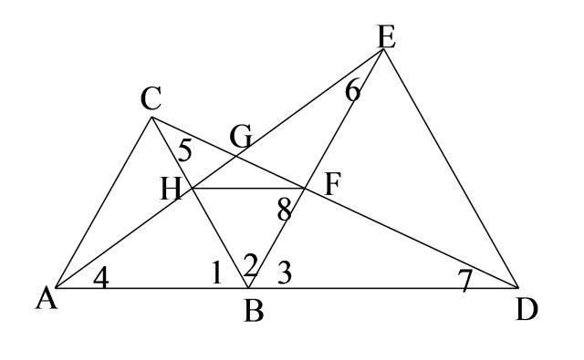 三角形全等证明题中的手拉手模型介绍