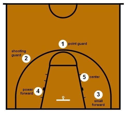 篮球场上的1-5号位是怎么分的?看完你便会高人